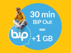 1 GB for 30 minutes of calls via BiP Out